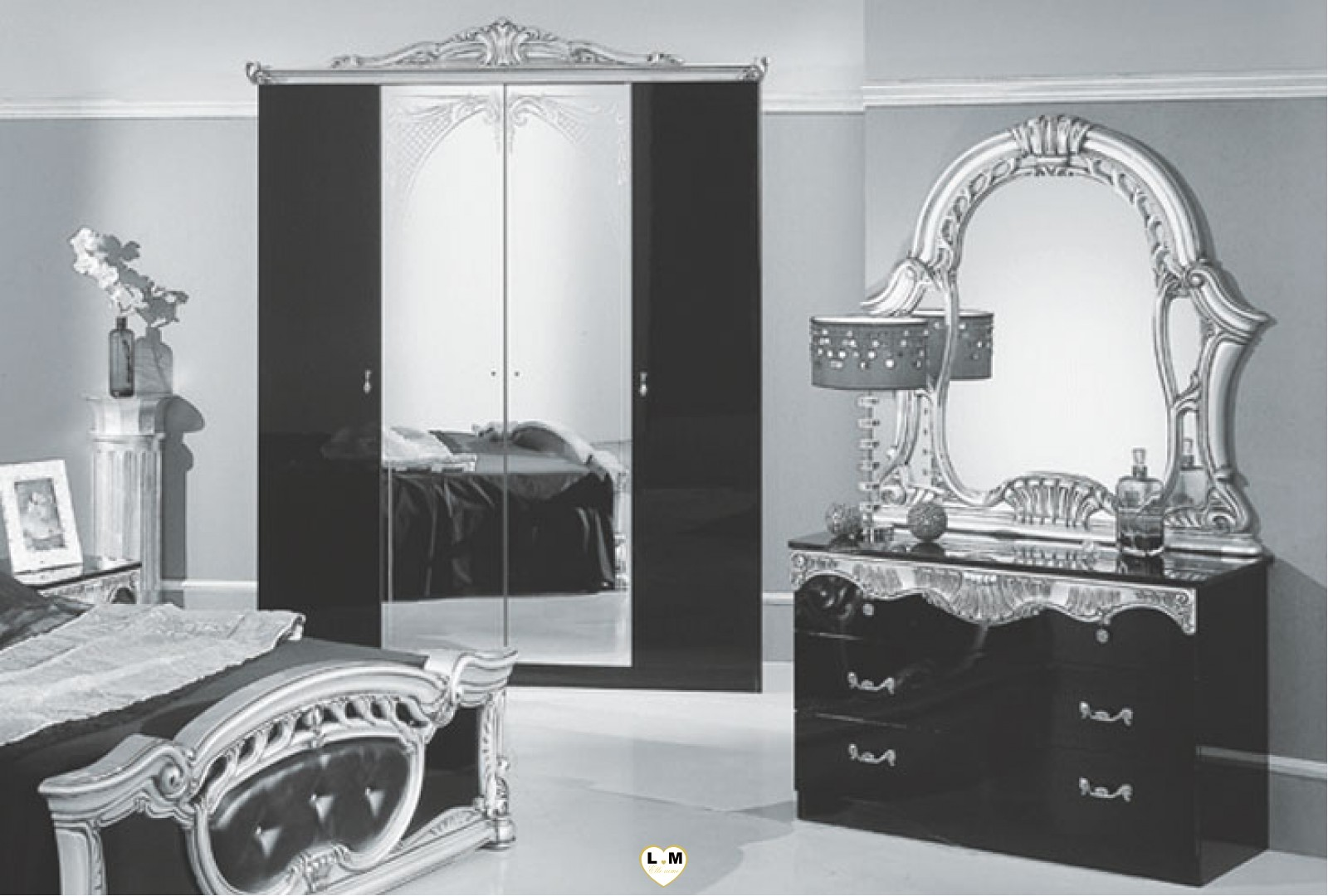 chambre a coucher complete italienne stunning chambre a coucher complet italien with chambre a. Black Bedroom Furniture Sets. Home Design Ideas