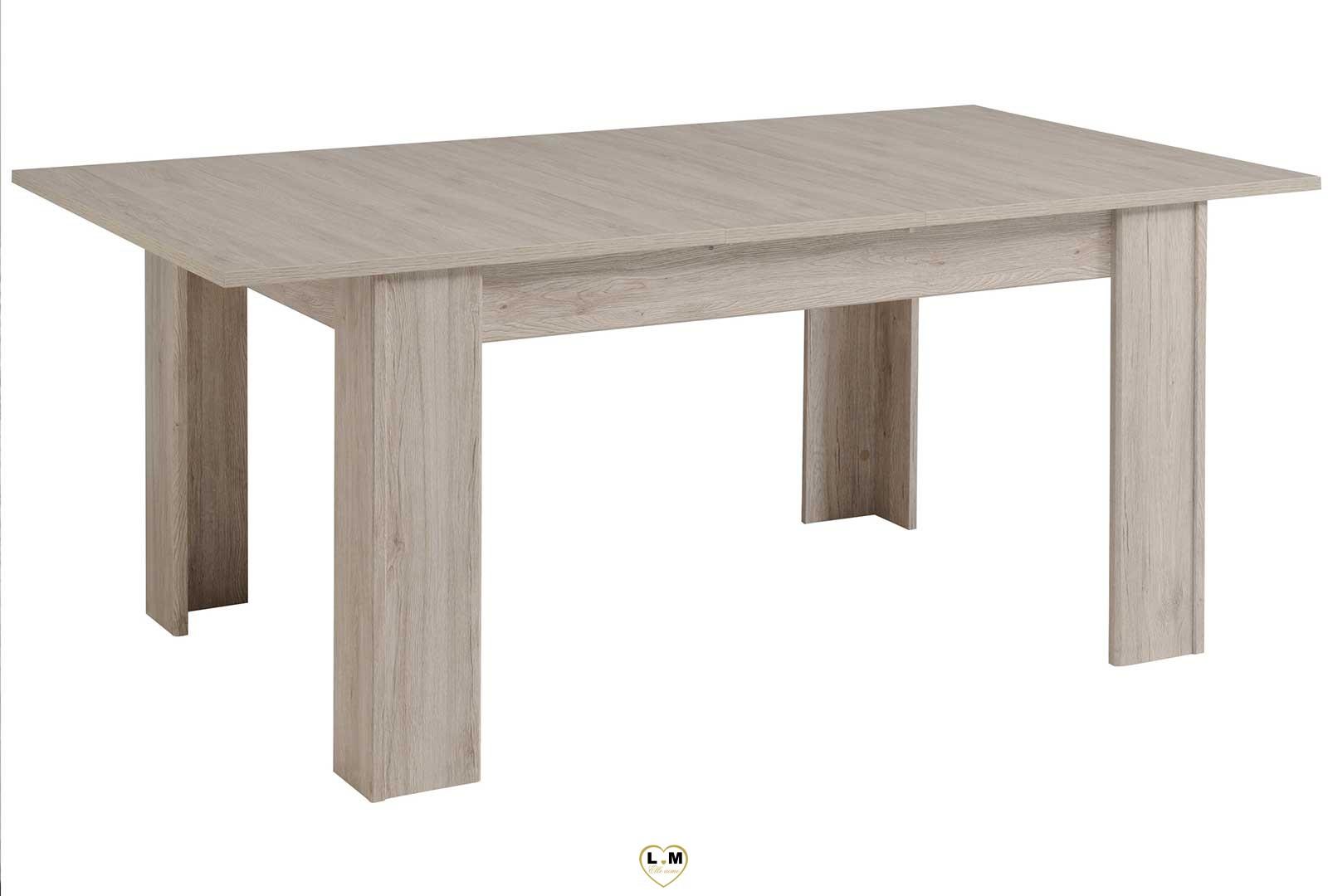 patryk chene gris et blanc table repas lignemeuble com. Black Bedroom Furniture Sets. Home Design Ideas