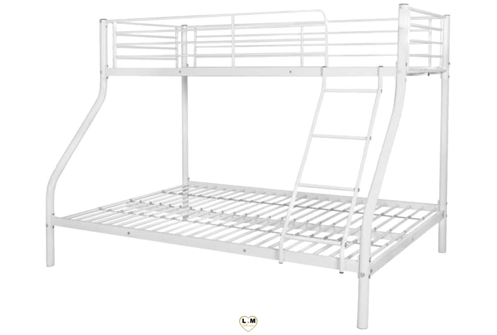 caramel lit superpose metal 2 1 blanc lignemeuble com. Black Bedroom Furniture Sets. Home Design Ideas
