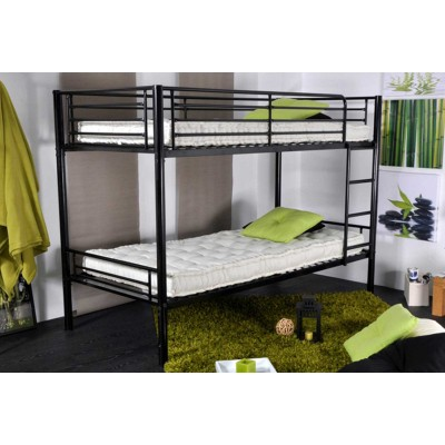 caramel lit superpose metal 1 1 noir lignemeuble com. Black Bedroom Furniture Sets. Home Design Ideas