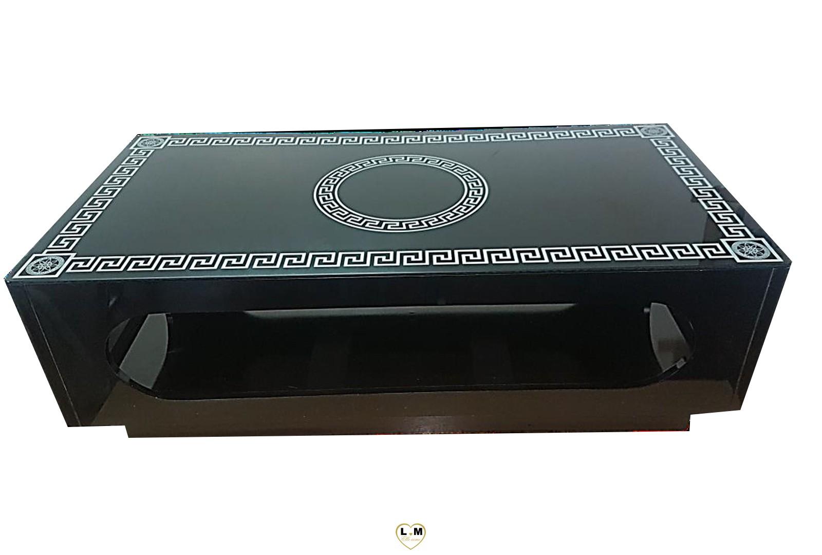 Ronsard table basse noire lignemeuble com - Canape versace ...
