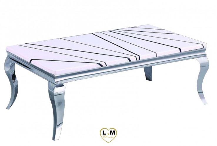 Villon table basse marbre ligne meuble votre site de meuble en ligne - Table salle a manger plateau marbre ...