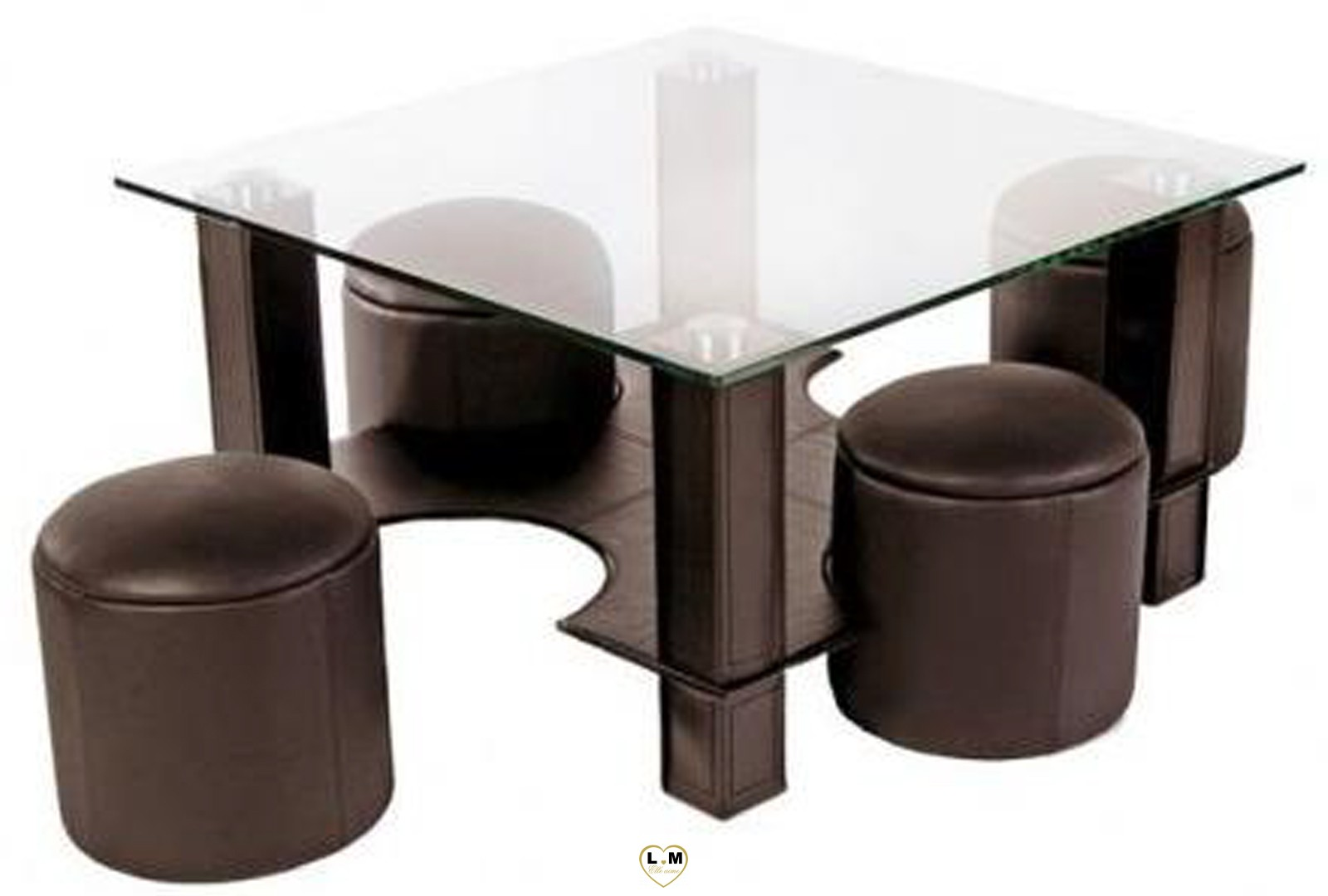 hugo table basse carree marron lignemeuble com. Black Bedroom Furniture Sets. Home Design Ideas
