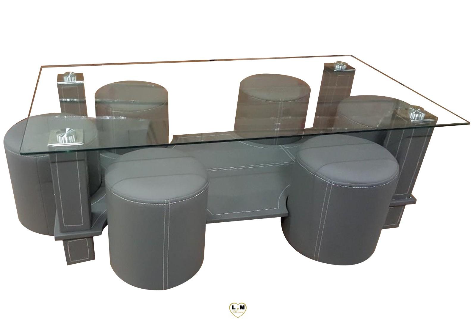hugo table basse rectangulaire grise lignemeuble com. Black Bedroom Furniture Sets. Home Design Ideas