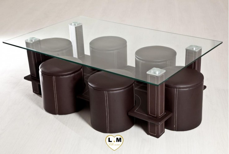 hugo table basse rectangulaire marron lignemeuble com. Black Bedroom Furniture Sets. Home Design Ideas