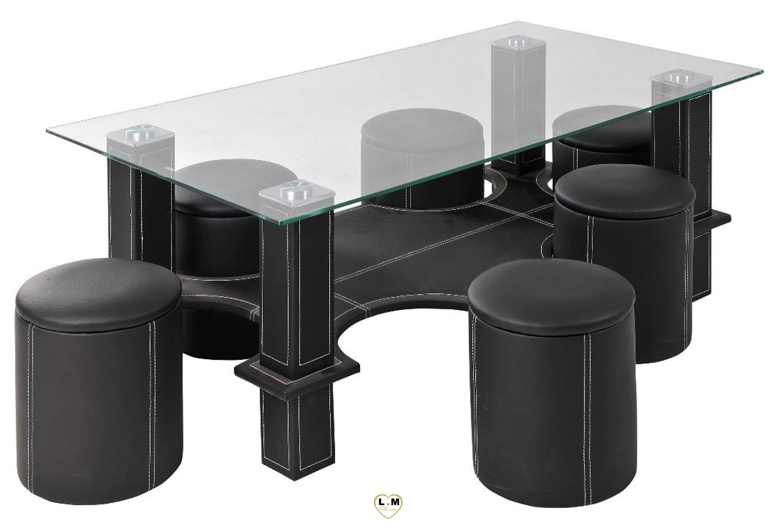 hugo table basse rectangulaire noire lignemeuble com. Black Bedroom Furniture Sets. Home Design Ideas