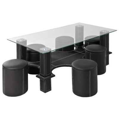 HUGO TABLE BASSE RECTANGULAIRE NOIRE
