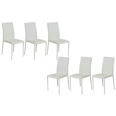 PADDY BLANC SET DE 6 CHAISES EMPILABLES