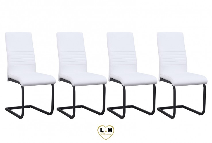 PIERO BLANC SET DE 4 CHAISES