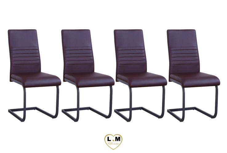 PIERO BRUN SET DE 4 CHAISES