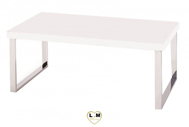 PRIVAT BLANC TABLE BASSE