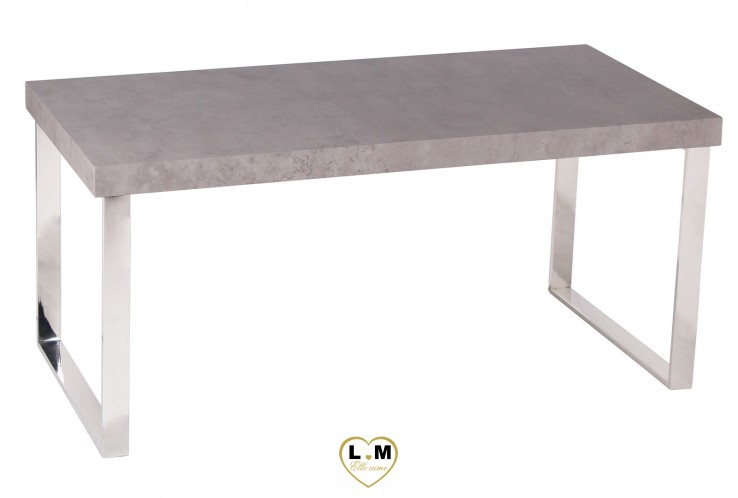 PRIVAT GRIS TABLE BASSE