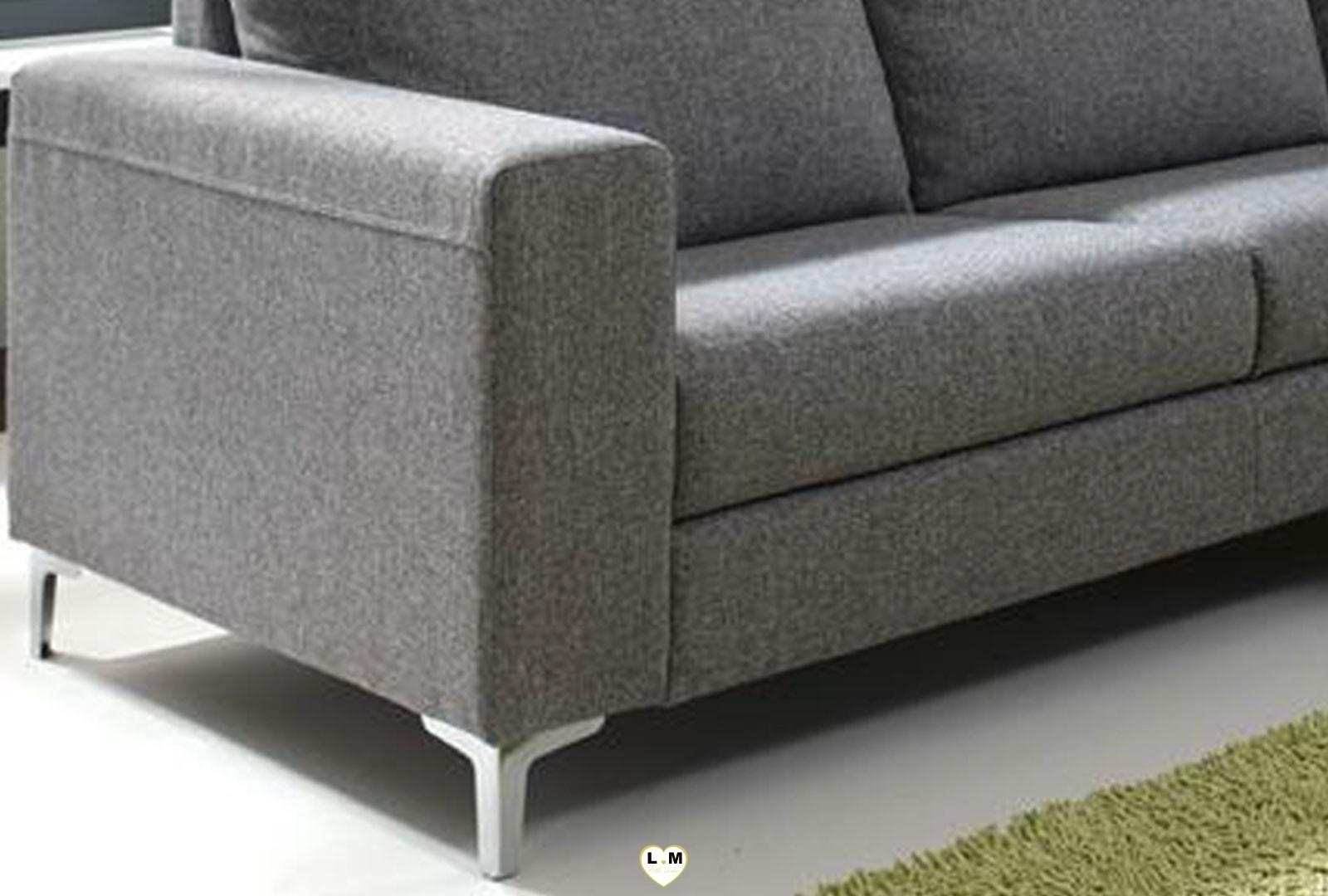 prya gris canape angle tissus lignemeuble com. Black Bedroom Furniture Sets. Home Design Ideas