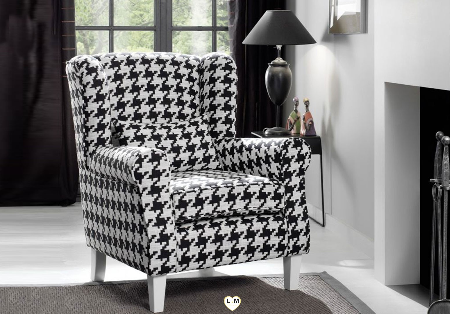 president pied de coq fauteuil lignemeuble com. Black Bedroom Furniture Sets. Home Design Ideas