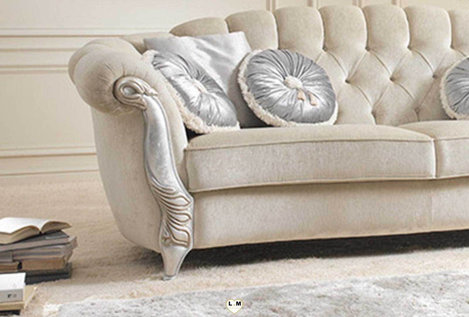 gilda salon tissus ivoire lignemeuble com. Black Bedroom Furniture Sets. Home Design Ideas
