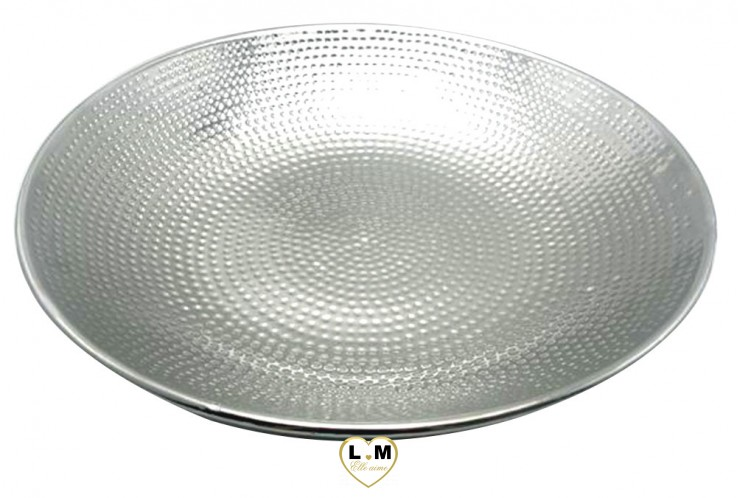 CENTRE DE TABLE DECO TITANIUM PLAT