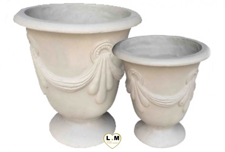 LIGHT CEMENT SET DE 2 VASQUES BEIGE
