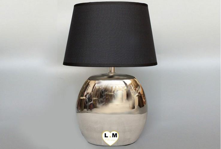BOULE CERA ARGENT LAMPE