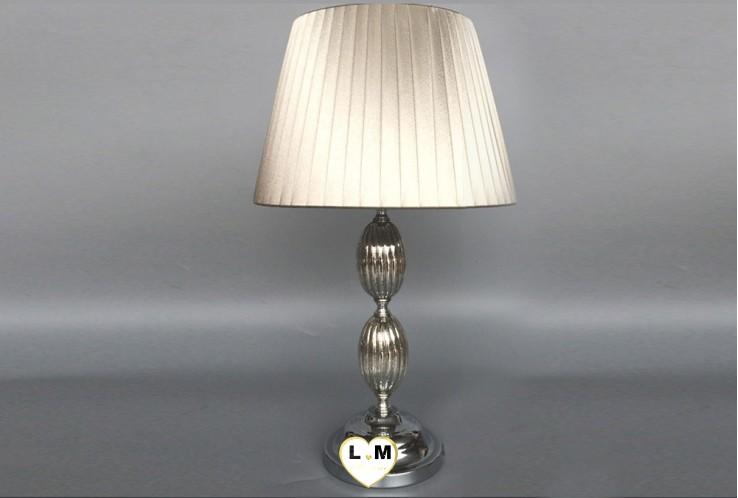 ANTIKA SILVER VERRE METAL LAMPE
