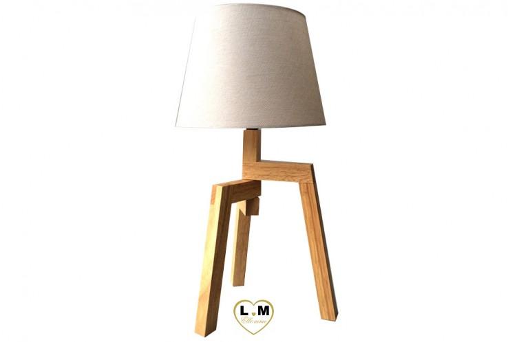 TREP PIED BOIS NATUREL LAMPE
