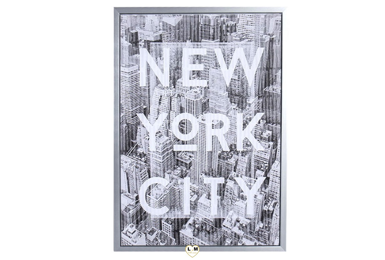 New york city two cadre toile lignemeuble com for Objet deco new york
