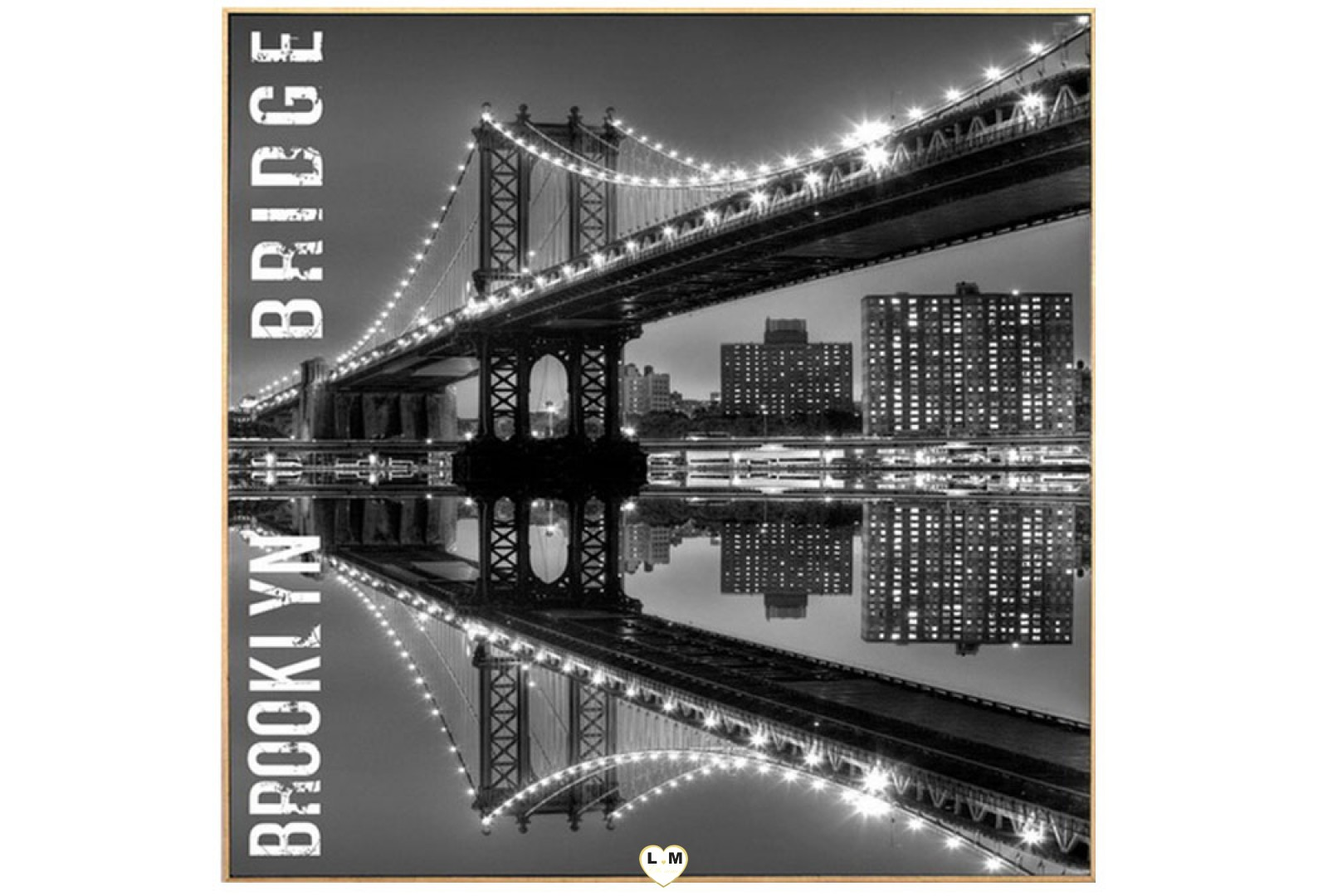 brooklyn bridge one cadre toile lignemeuble com. Black Bedroom Furniture Sets. Home Design Ideas