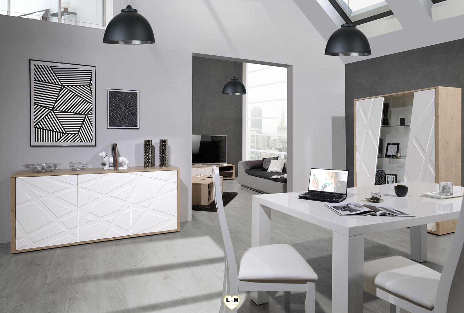 la rochelle decor chene et laque blanc ensemble sejour salle a manger design  votre site de