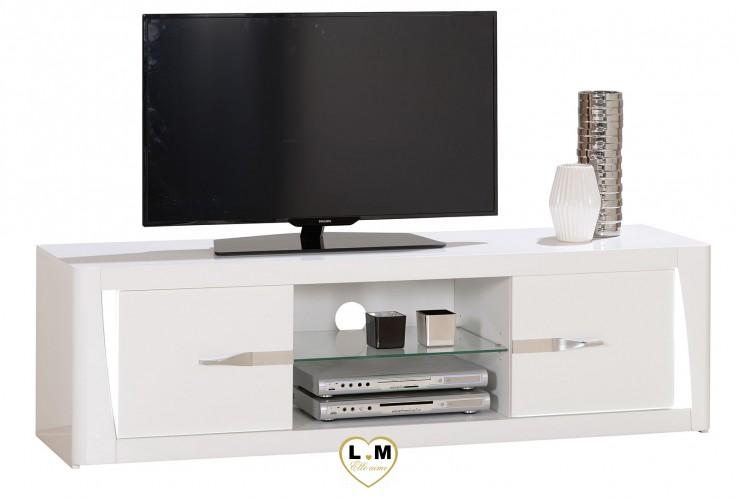 lorient laque blanc sejour salle a manger moderne le meuble tv lignemeuble com. Black Bedroom Furniture Sets. Home Design Ideas