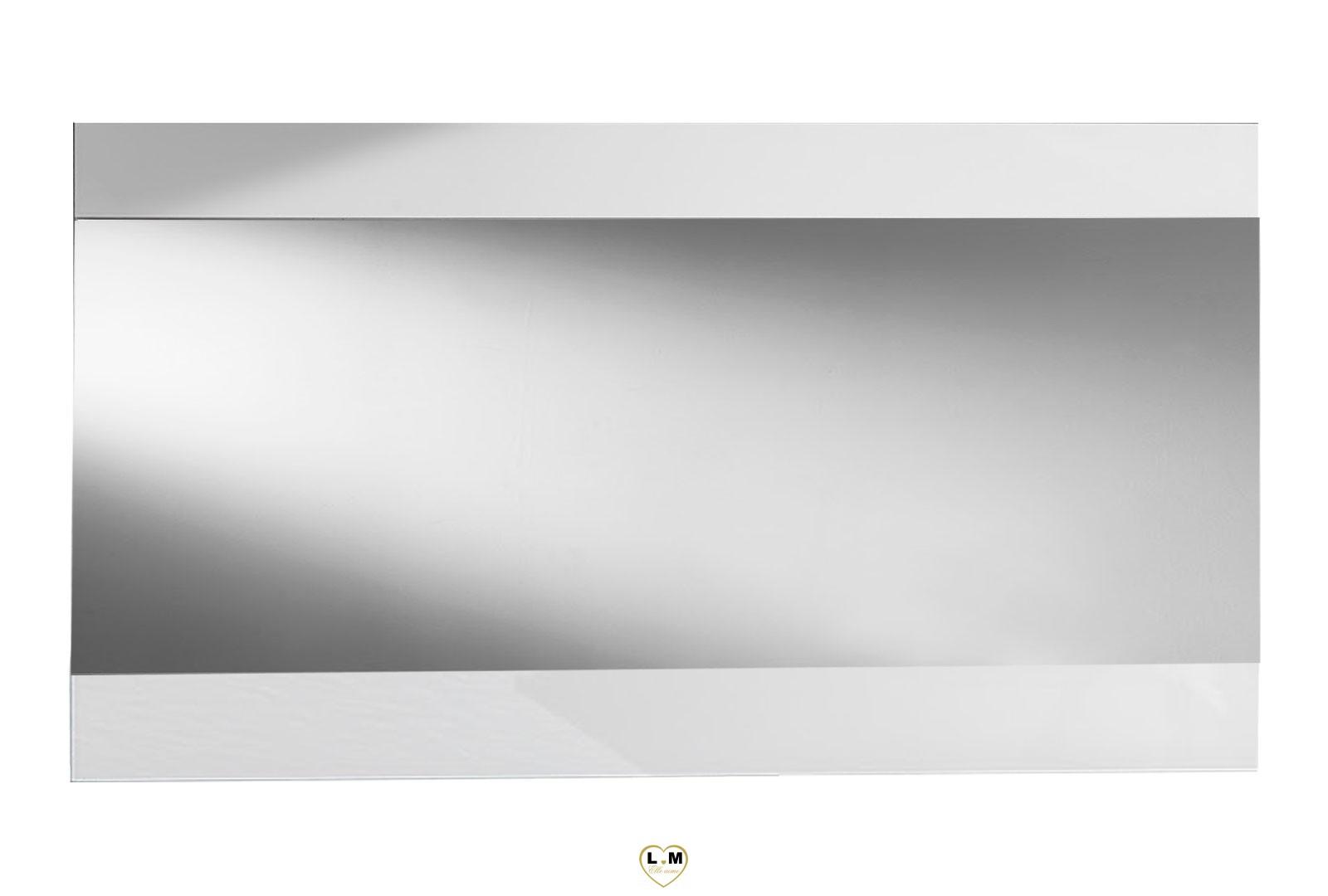 Maracana laque blanc sejour salle a manger moderne le miroir lignemeuble com for Glace miroir moderne