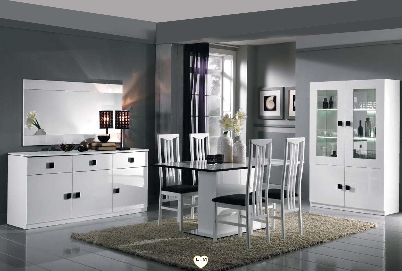 maracana laque blanc sejour salle a manger moderne le buffet lignemeuble com. Black Bedroom Furniture Sets. Home Design Ideas