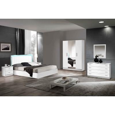 Lignemeuble com votre site de meuble en ligne lignemeuble com - Chambre blanc laque design ...