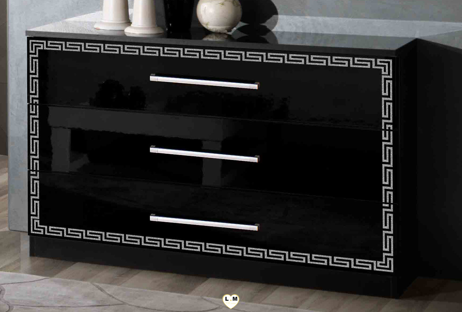 carioca laque noir ensemble chambre a coucher design