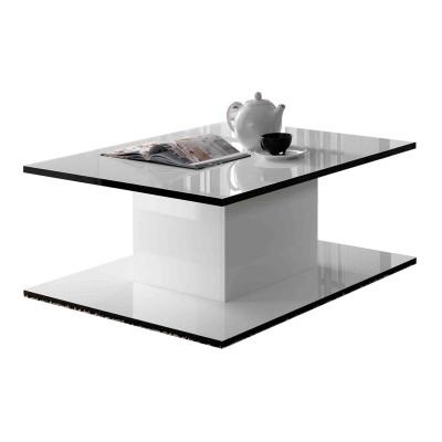 Amazonie laque blanc sejour salle a manger design la - Table salle a manger design blanc laque ...