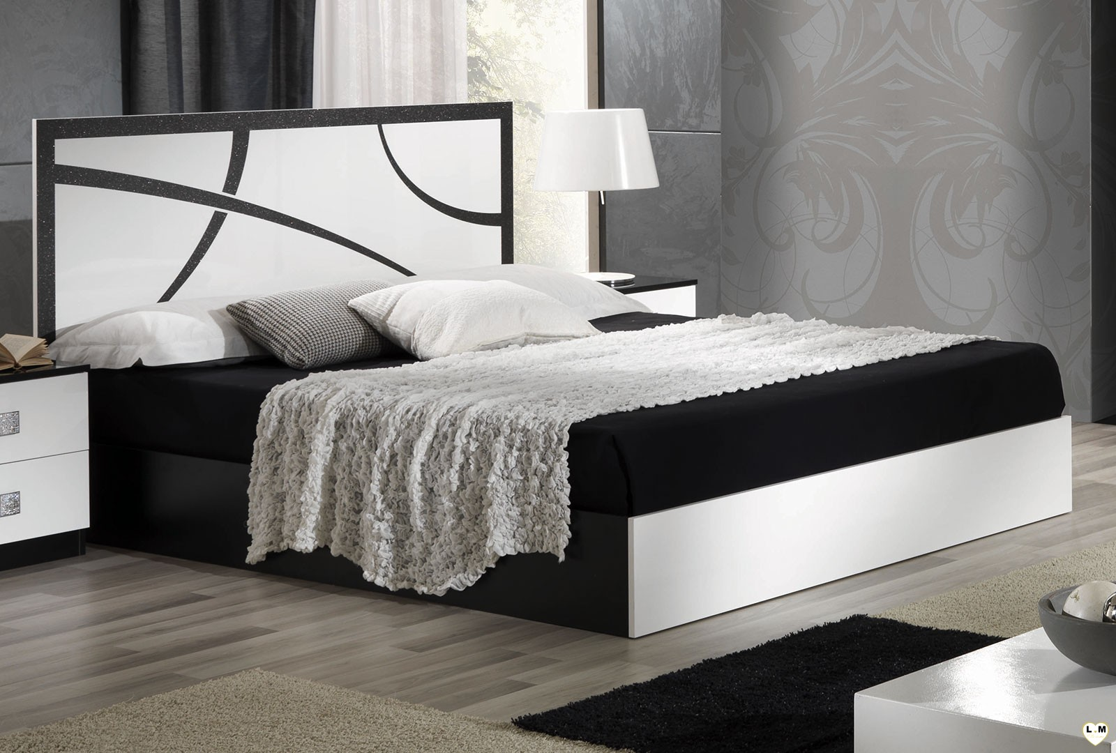 beautiful chambre blanc laque pictures. Black Bedroom Furniture Sets. Home Design Ideas