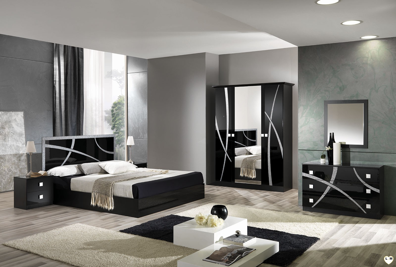 Chambres coucher design interesting chambre coucher de for Set de chambre a coucher
