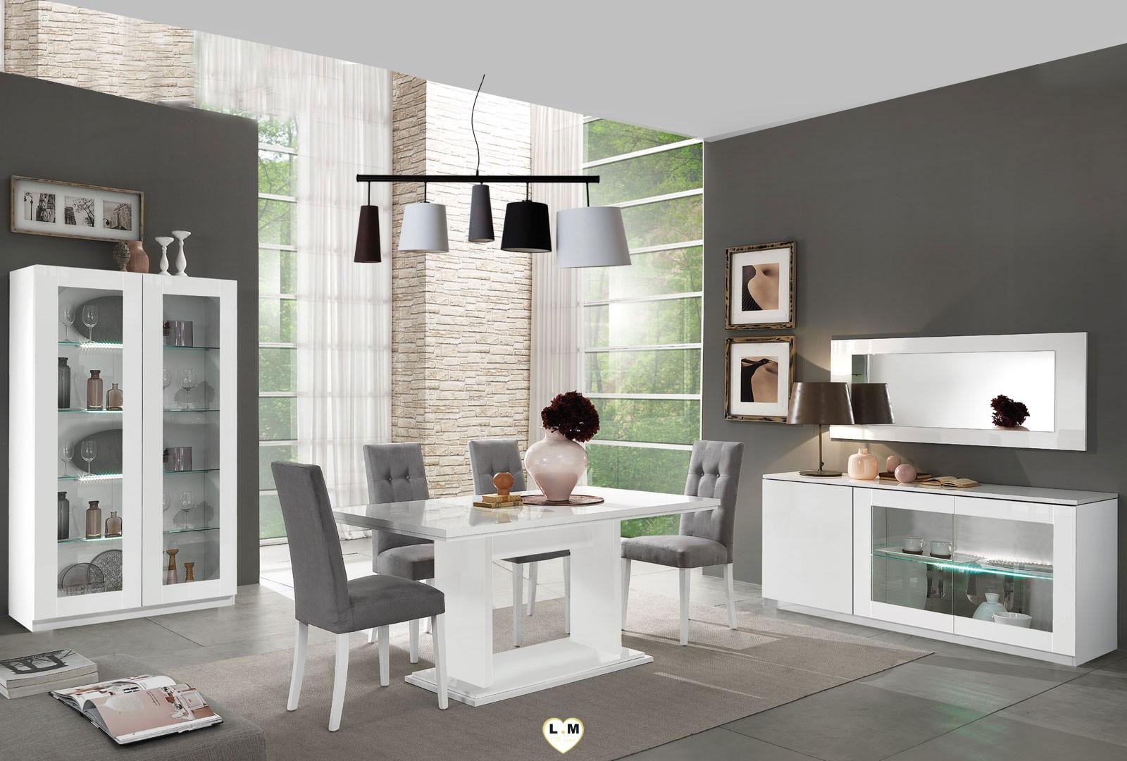 Miroir Salle De Sejour sao paulo laque blanc sejour salle a manger moderne : l