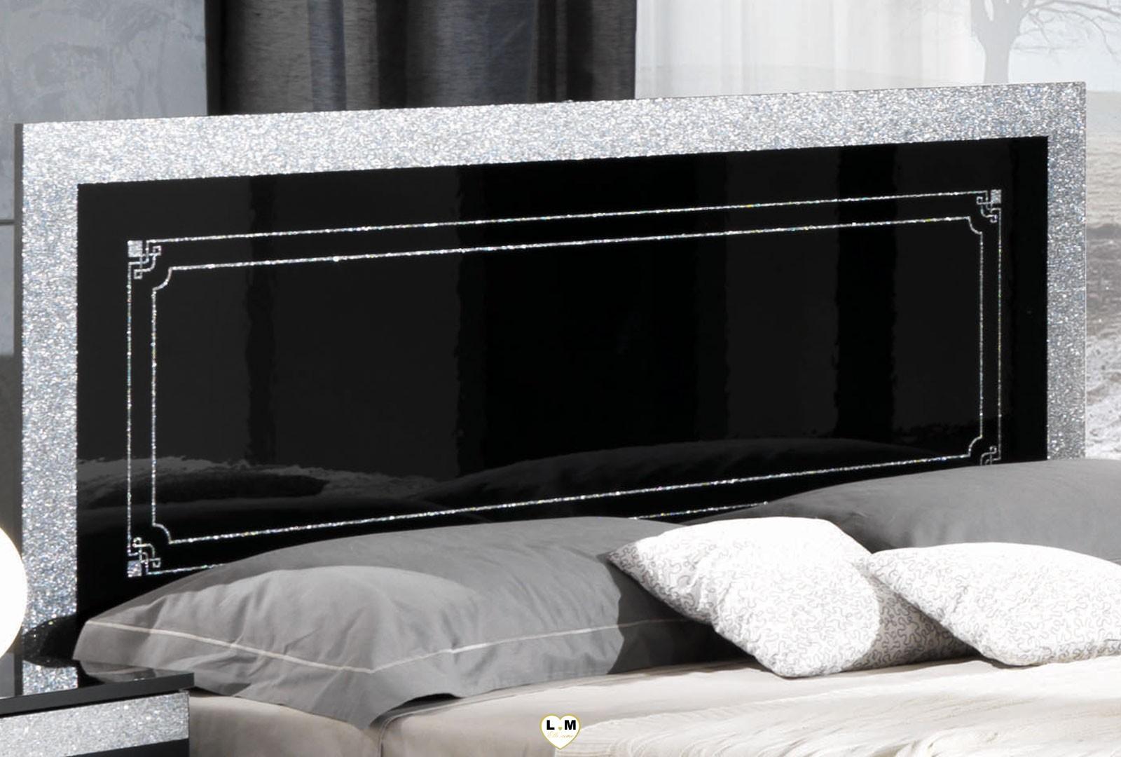 brazilia laque noir et blanc ensemble chambre a coucher. Black Bedroom Furniture Sets. Home Design Ideas