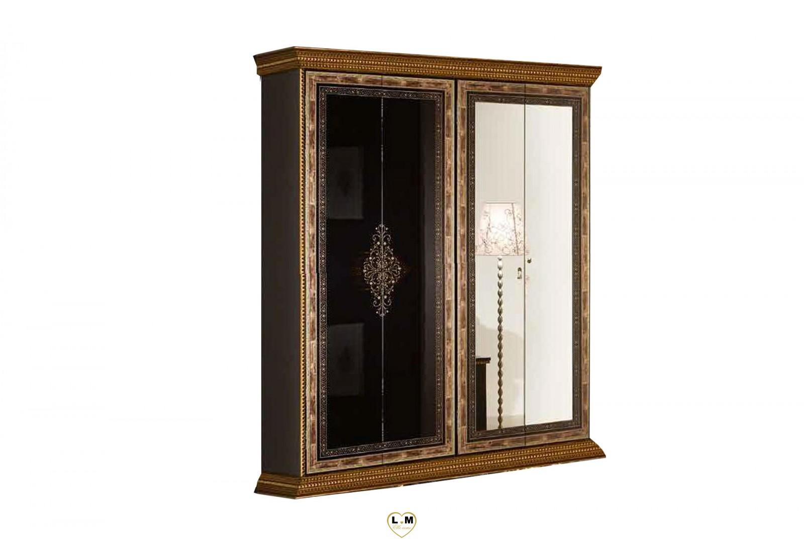 Armoire chambre noir laque maison design for Armoire chambre design