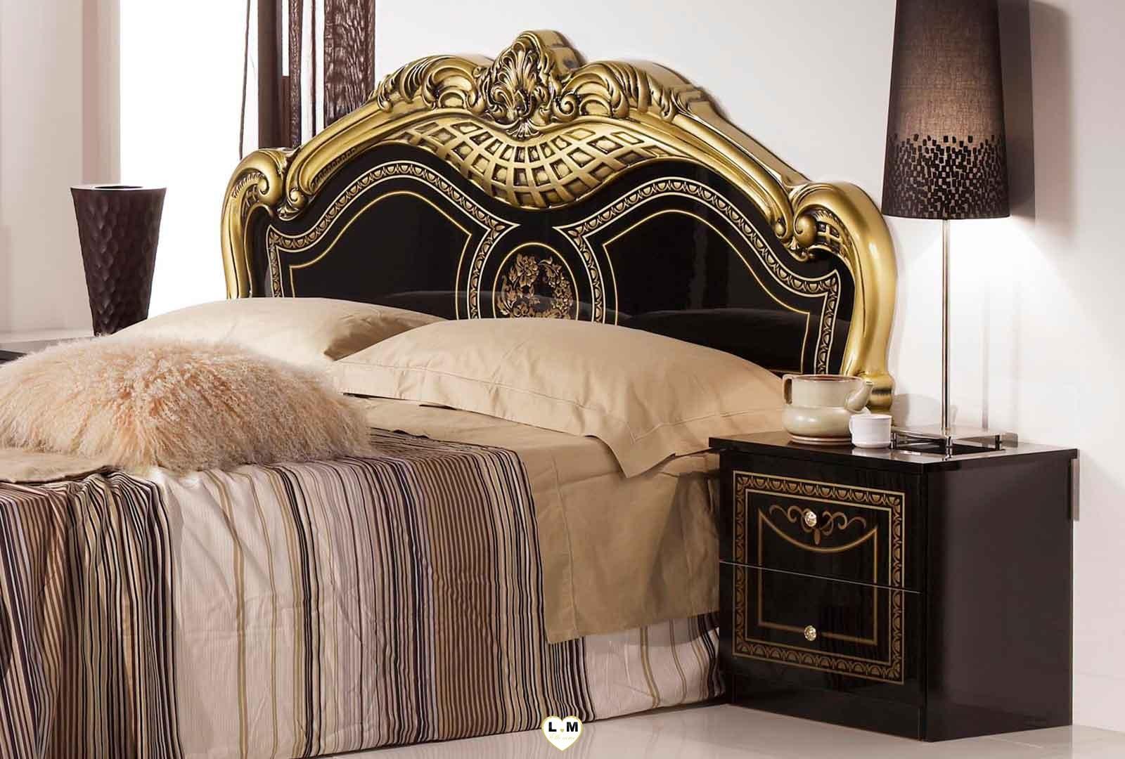 valda laque noir dore l 39 ensemble chambre a coucher lignemeuble com. Black Bedroom Furniture Sets. Home Design Ideas