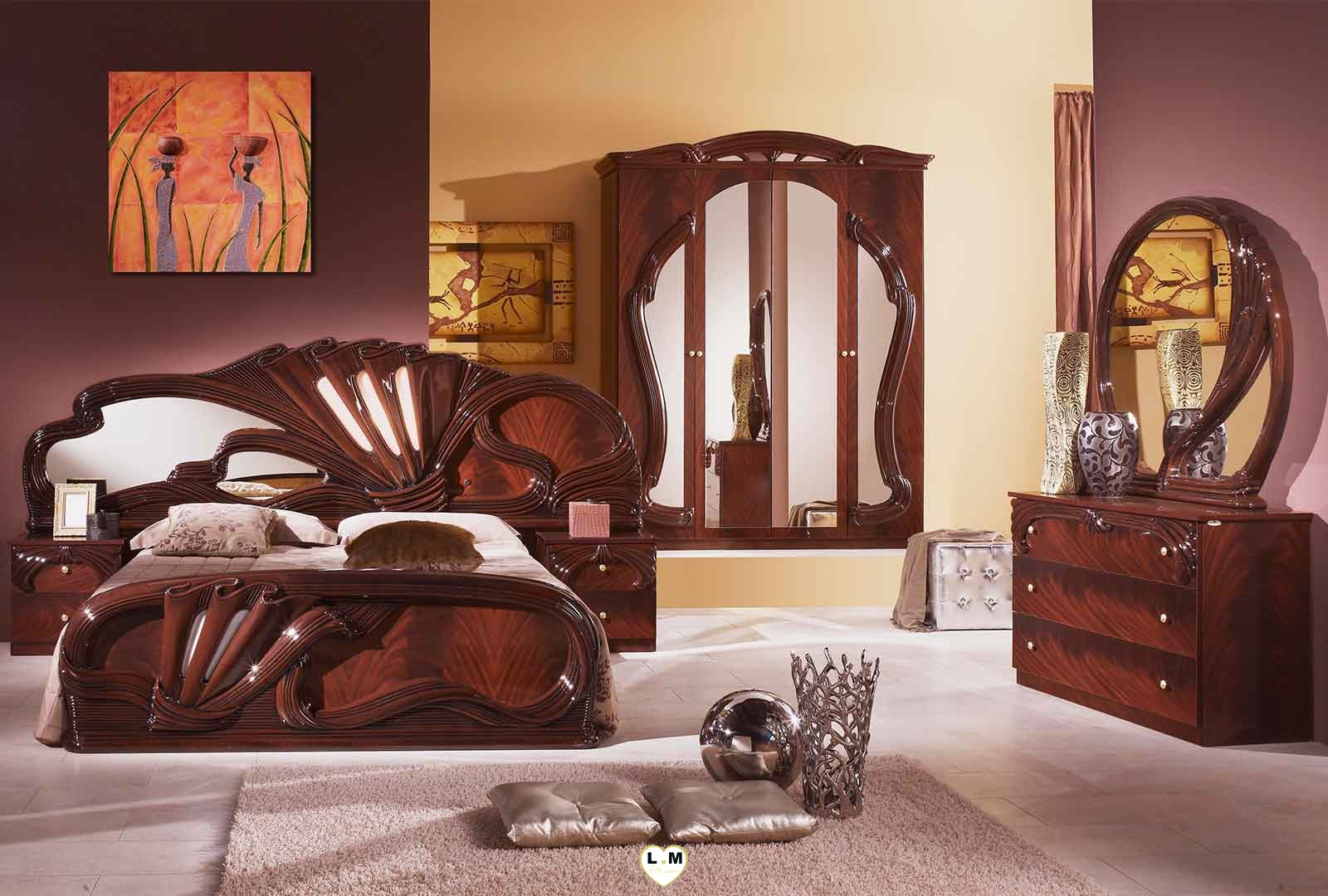 virginia acajou l 39 ensemble chambre a coucher lignemeuble com. Black Bedroom Furniture Sets. Home Design Ideas