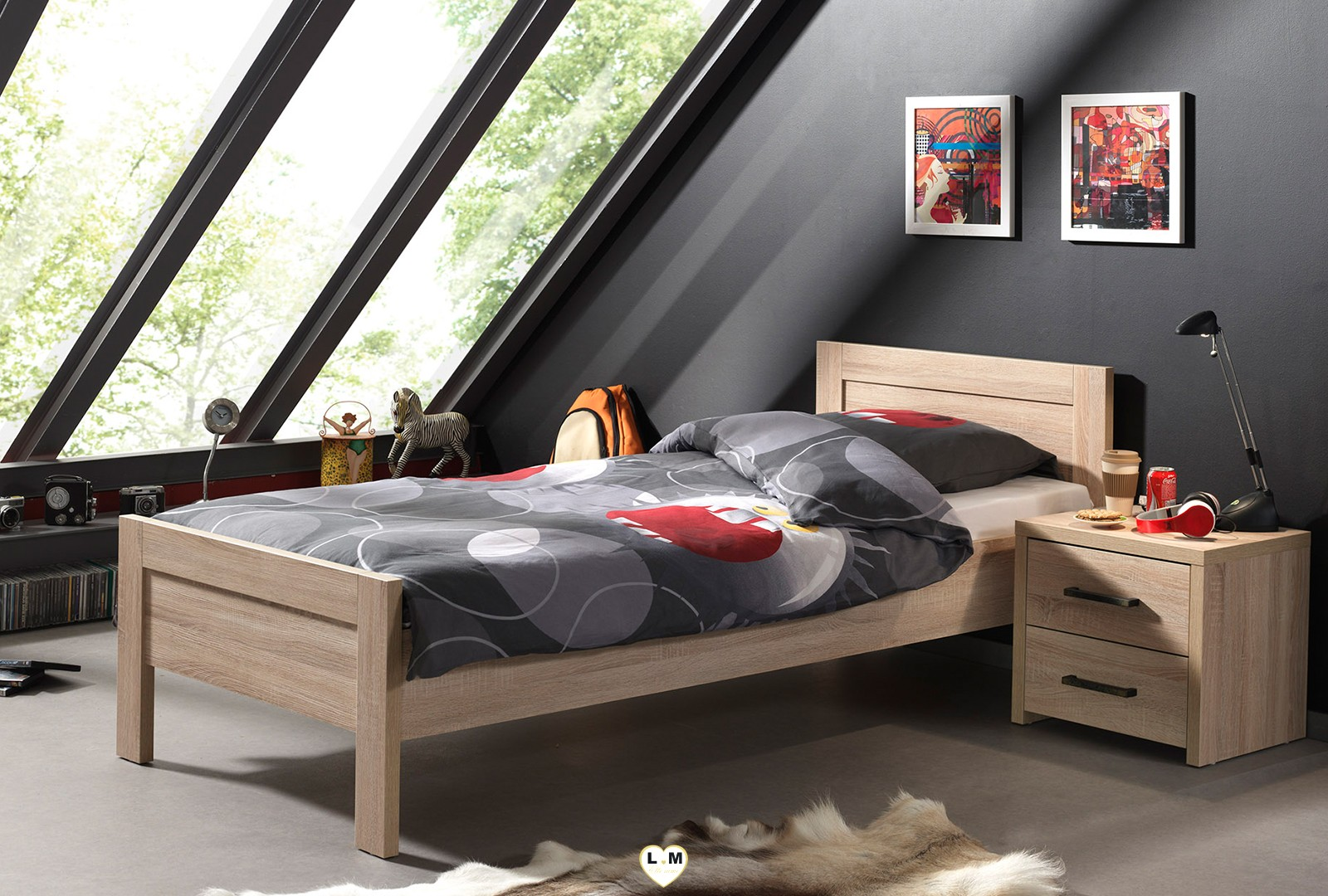 alinea chene clair ensemble chambre ado lignemeuble com. Black Bedroom Furniture Sets. Home Design Ideas