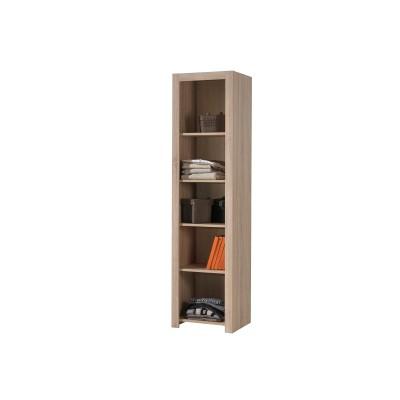alinea chene clair chambre ado la bibliotheque 4 etageres 5 niches longueur 75 cm. Black Bedroom Furniture Sets. Home Design Ideas