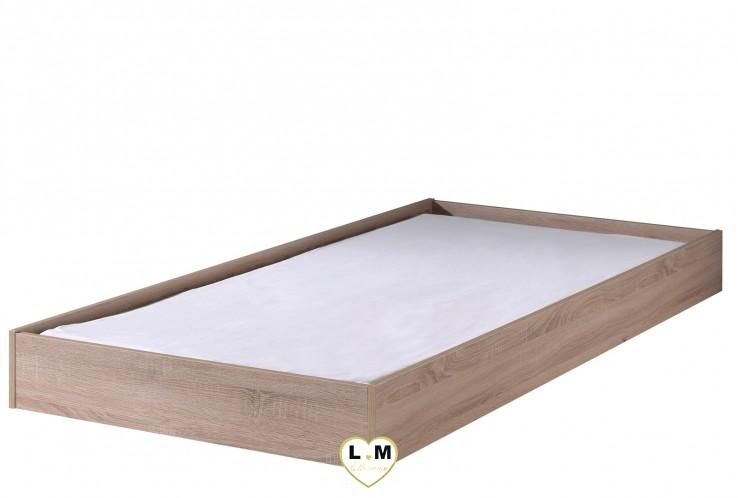 ALINÉA CHÊNE CLAIR CHAMBRE ADO: Le Lit Gigogne - Tiroir Rangement ou Lit Pour Couchage 90x200 cm - Longueur: 91 cm - Profondeur: 204 cm - Hauteur: 36 cm.