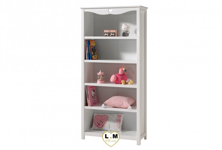 amour laque blanc mat chambre enfant la bibliotheque etagere 4 etageres 5 niches longueur. Black Bedroom Furniture Sets. Home Design Ideas