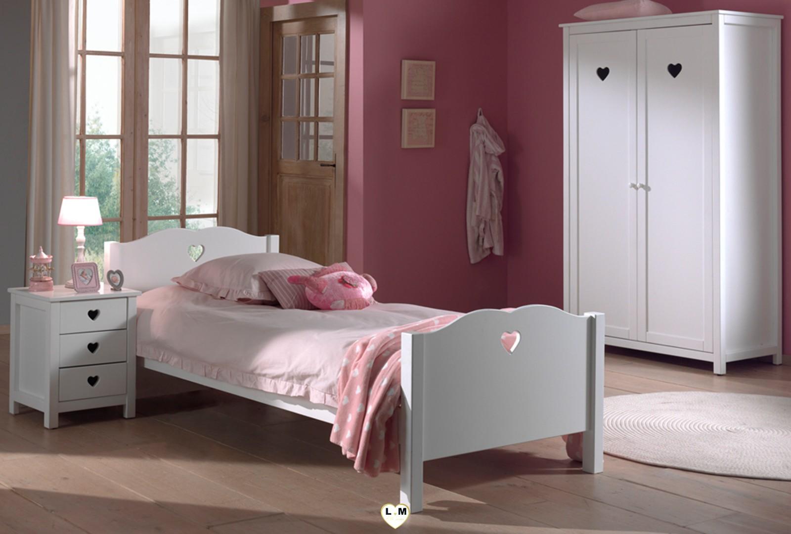 amour baldaquin laque blanc mat ensemble chambre enfant lignemeuble com. Black Bedroom Furniture Sets. Home Design Ideas