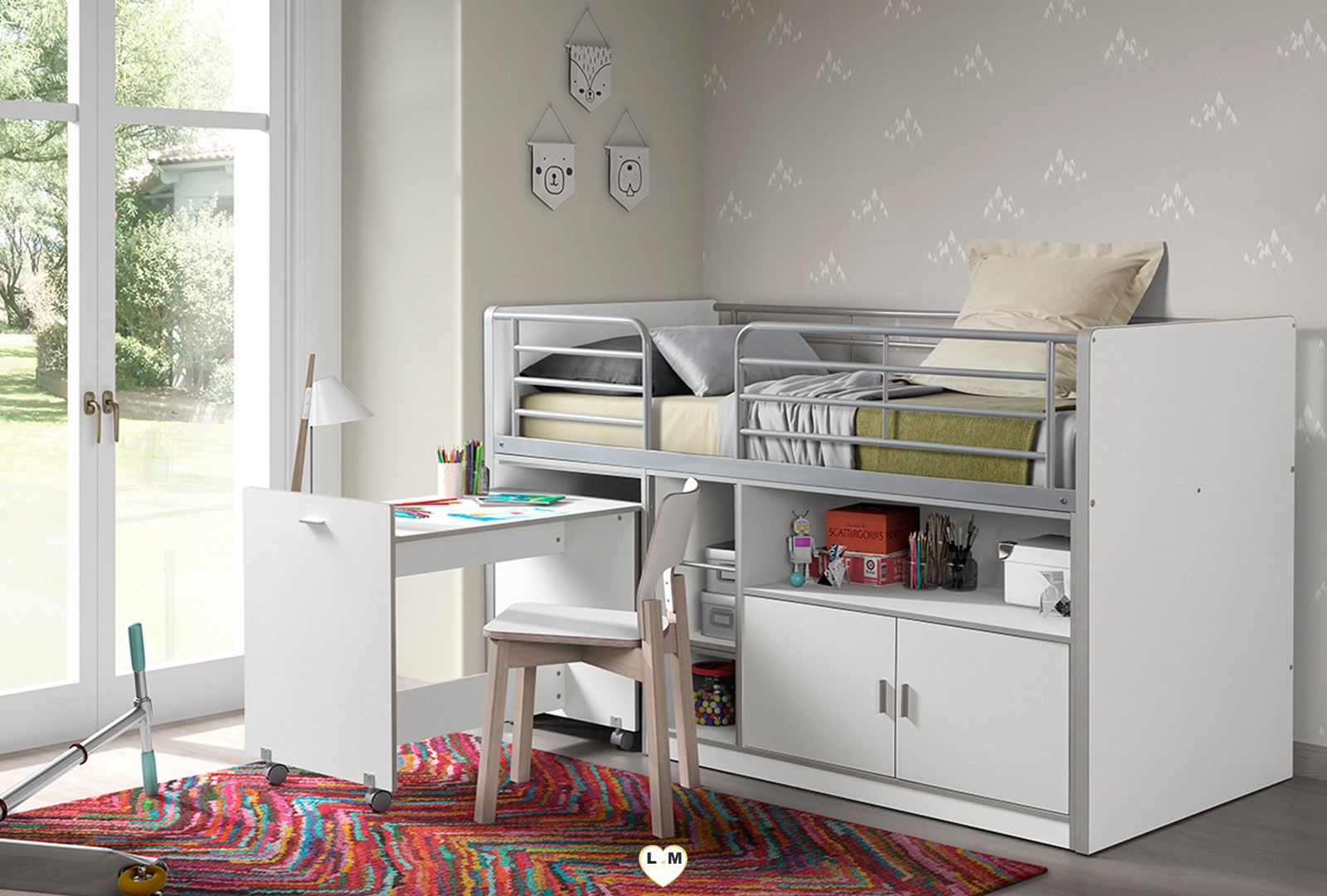 clyde combine chambre enfant 7 coloris l 39 ensemble. Black Bedroom Furniture Sets. Home Design Ideas