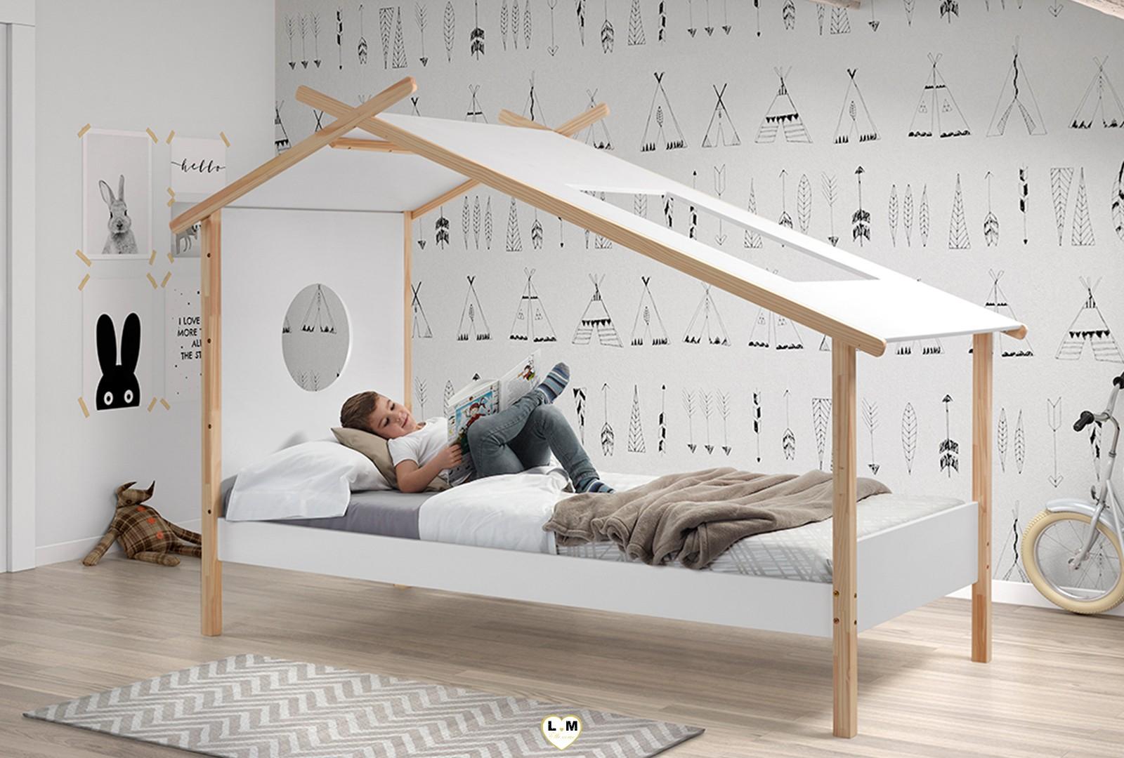 cabane lit enfant 1 place lignemeuble com. Black Bedroom Furniture Sets. Home Design Ideas