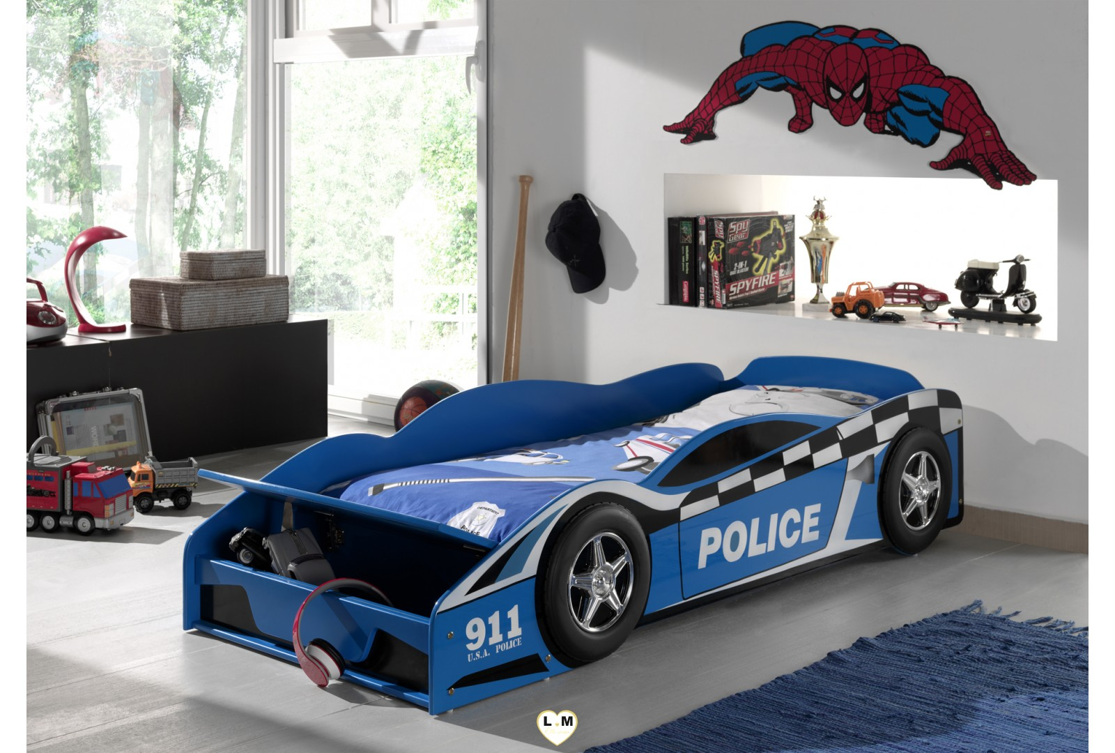 police car lit voiture enfant lignemeuble com. Black Bedroom Furniture Sets. Home Design Ideas