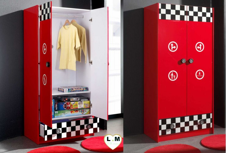 monza armoire chambre enfant lignemeuble com. Black Bedroom Furniture Sets. Home Design Ideas