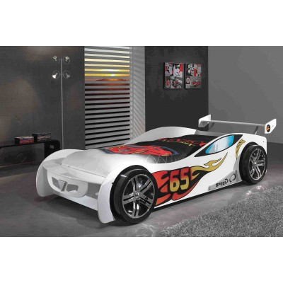 SPEED 65 WHITE LIT VOITURE ENFANT